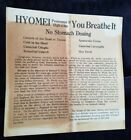 Old Quack Medicine Advertising Leaflet Booth's Hyomei Co Ithaca NY Solvax Balm