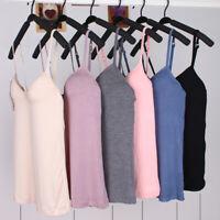 UK Women's Camisole Tops with Built in Bra V Neck Vest Padded Slim Tank Tops