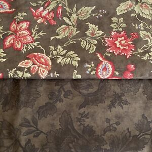 NEW Fabric : MODA Chocolat by 3 Sisters, Lot of 2 pieces/1.25 yards each, Brown