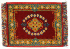 Dollhouse Miniature - KARASTAN RUG - WINE - 6 inches x 8 inches - 1:12 Scale