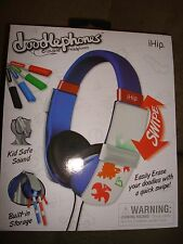 IHIP DOODLEPHONES ERASABLE HEADPHONES BLUE