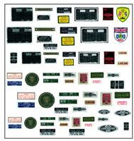 NEW Decal set for 1/8 scale DeAgostini E Type Jaguar partwork