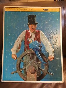 VINTAGE 1967 DOCTOR DOLITTLE FRAME-TRAY PUZZLE BY WHITMAN No.4568