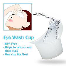 Reusable Medical Silicone Eye Bath Wash Cup 5ML Vision Care BPA Free Set of 2