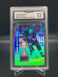 1991 Upper Deck Holograms Wayne Gretzky GMA Graded 8.5 NM-Mint +