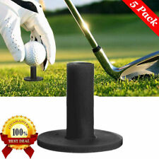 "Black Golf Rubber Tees 5 Pack For Mat Long 1.5"" 2.25'' 2.75'' 3'' 3.13'' Us Ship"
