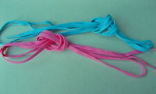 SHOE-LACES~2 x Pairs of 7mm x 1.5mtr Length HOT PINK (Only) Shoelaces