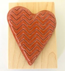 "New Hero Arts Crafts HEART Maple Wood Block Stamp 3.5"""