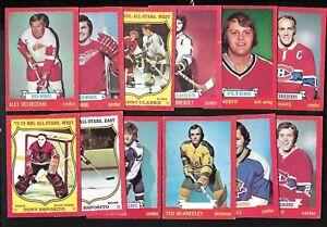 1973-74 OPC 73-74 O PEE CHEE CARD DARK GRAY BACK + ERROR 1-132 SEE LIST