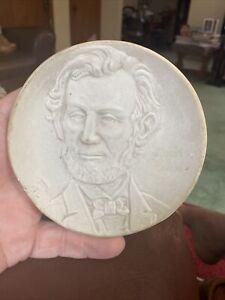Weller Pottery 1904 St Louis Fair Souvenir Plate Abraham Lincoln