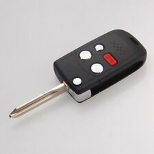 Replacement 4 BTNS Folding Flip Blank Remote Key Case Shell for Ford Lincoln LS