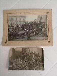 MESSINA TERREMOTO CALABRO SICULO 1908 Regio Esercito Foto Cartolina