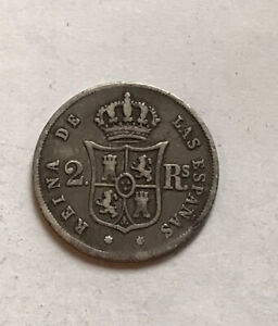 Spain 2 Reals 1863