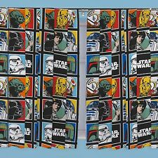 "STAR WARS 66"" x 72"" CURTAINS NEW KIDS BEDROOM FORCE DESIGN"