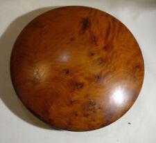 """Vintage soucoupe volante forme boîte thuya Burl Wood avec art déco 6.25"""""""