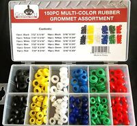 150pc GOLIATH INDUSTRIAL MULTI COLOR RUBBER GROMMET ASSORTMENT WIRING FIREWALL