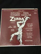 Zorba Original Broadway Cast 1969 LP Vinyl Capitol Records  SO-118