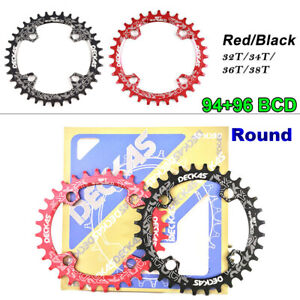 94+96 BCD Round Tooth Plate32-38T MTB Bicycle Crankset Bike Chainwheel Chainring