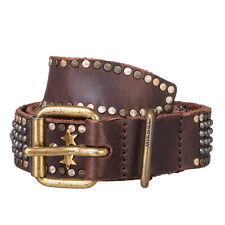 RRP €310 DIESEL Size 85 / 34 BEGELY Studded Genuine Leather Pin Buckle Belt