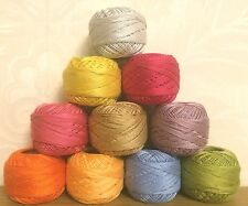 10 ANCHOR Pearl Cotton Crochet embroidery thread Balls Size 8 , 85m each ball