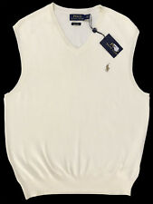 Polo Ralph Lauren Sweater Vest Mens Cresent Cream Pima Cotton 6681 M