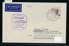 96489) LH FF Düsseldorf - Belgrad 12.7.68, Brief ab DDR