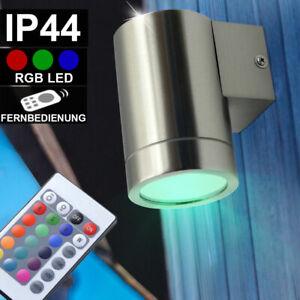 RGB LED Extérieur Mur Façade Down Spot Télécommande Yard Projecteur dimmable