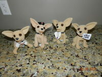Taco Bell Talking Dogs Plush Stuffed Chihuahuas Yo Quiero Lot of 4