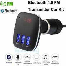 Car FM Transmitter 4.0 Bluetooth Hands-free LCD MP3 Player Radio Adapter Charger