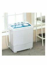 21LBS Mini Portable Washing Machine w/ Drain Pump Compact Twin Tub Spinner Dryer