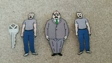Embroidered Iron on patch king of hill simpsons about 4 INCH X 2 family guy