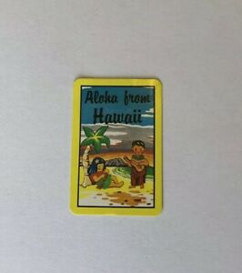 Miniature Vintage Retro 'Aloha From Hawaii' Souvenir Playing Swap Card, Islander