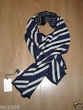 """Paul Smith Mainline Men's Viscose Silk Scarf Stripe Scarf BlueW12""""xL60"""" New BNWT"""