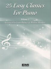 25 Easy Classics For Piano Song Book 3 Keyboard Songbook Sheet Music Lynn Palmer