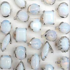 Big Gemstone Rings Natural Opal Rings 50pcs/lot Wholesale
