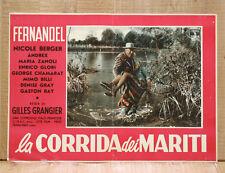 LA CORRIDA DEI MARITI fotobusta poster affiche Fernandel Nicole Berger 1955 BR43