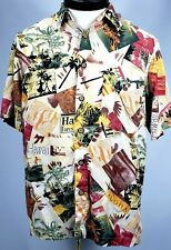 Knightsbridge Mens Medium Hawaiian Short Sleeve Shirt 100% Rayon Button Front.
