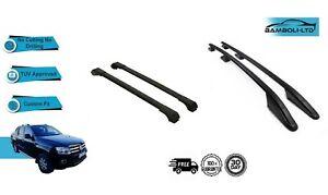 For VW Amarok Roof Side Rails Cross Bars Set 4 Pieces Black 2010-2019
