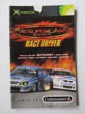 V8 SUPERCARS AUSTRALIA - XBOX Manual - MANUAL ONLY