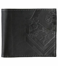 Metal Mulisha STATEMENT Black Debossed Chevron logo Men's Bi-Fold Wallet