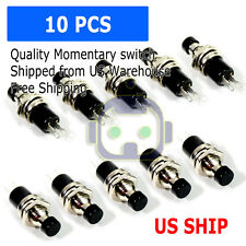 10pcs Lockless Momentary ON/OFF Push button Black Mini Switch PBS-110 M121