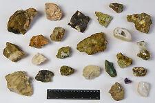 Mineralien - 24 Steine Sammlung - Lot Konvolut Sammlungsauflösung Druse Kristall