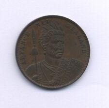 NEW ZEALAND  CIRCA. 1880  1 PENNY TOKEN, ALMOST UNCIRCULATED AND ORIGINAL