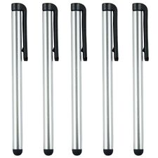 5x Universal Silver Capacitive Stylus Pens Smooth Touch Screen Samsung Huawei LG