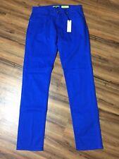 NEW $325 Versace Jeans Men's 32 Regular Fit Flat Front Pants Trousers Blue 32X35