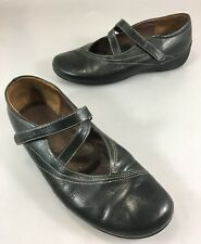 Wolky Womens 42EU 11US Black Leather Mary Janes Flats Shoes