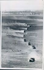 1970 Aerial South Vietnamese Armored Cars in Cambodia Press Photo