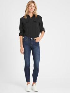 Banana Republic Women's Mid-Rise Skinny Raw Hem Ankle Jeans Size 4/27 NWT