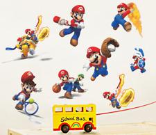 Mario sports Wall Stickers Vinyl Art Decal Boys Bedroom Wall Door Decor