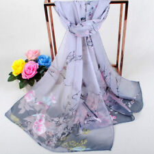2018 Fashion Women Long Soft Silk Chiffon Scarf Wrap Shawl Scarves  Stylish